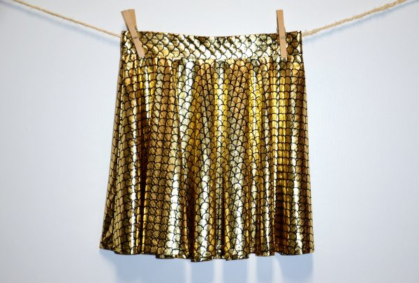Hardcore Skirt Escamas Oro