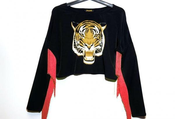 Crazy Rave Tigre Fleco Rosa