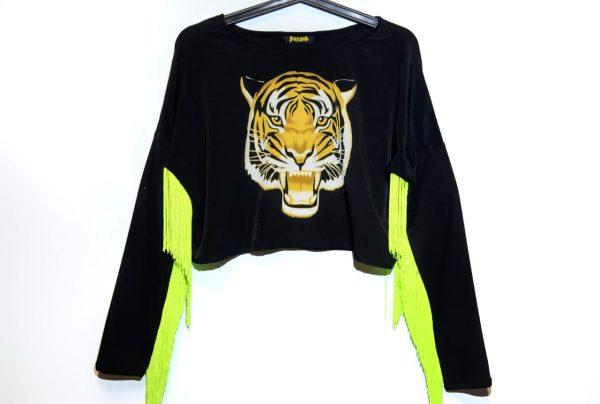 Crazy Rave Tigre Fleco Amarillo