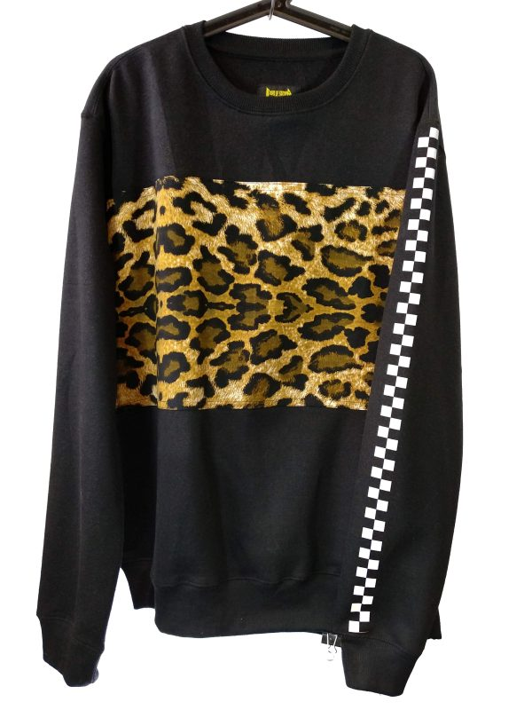 Sudadera Negra Leopardo XL