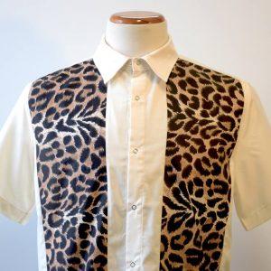 camisa leopardo blanca