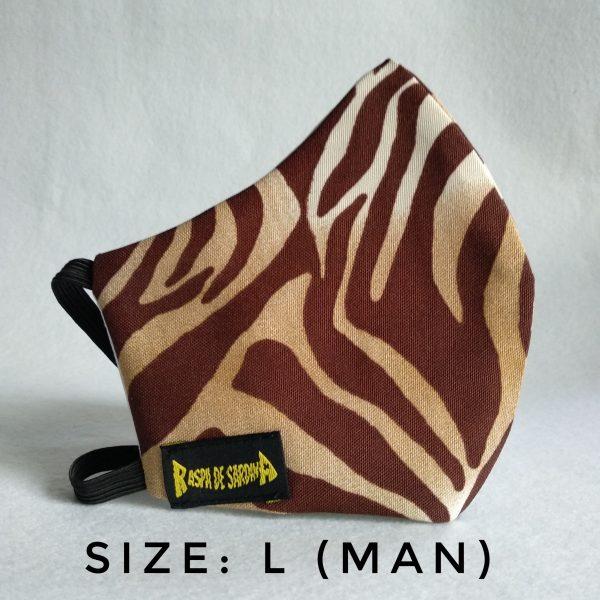 Cubrebocas Zebra (Tallas M y L)