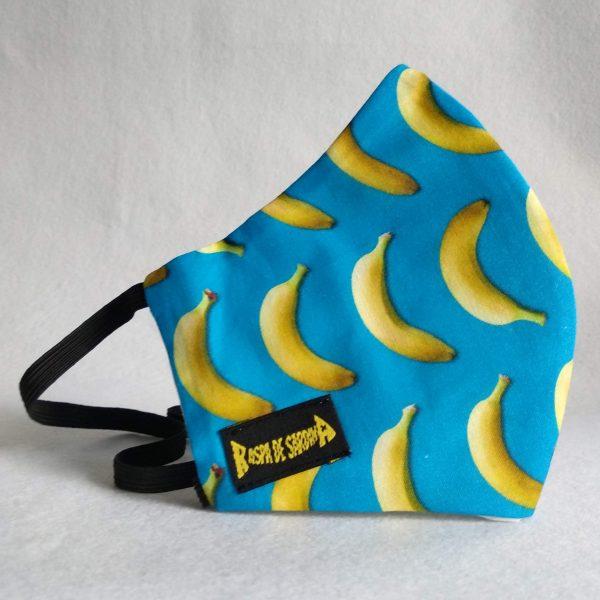 Cubrebocas Bananas  (Tallas: M y L)