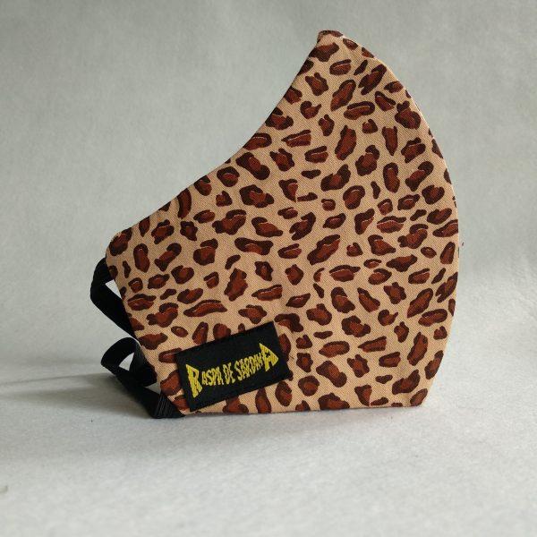 Cubrebocas Leopardo (Tallas M y L)