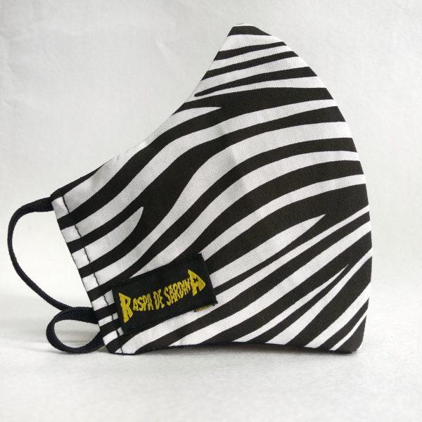 Cubrebocas Zebra Blanca (Tallas M y L)