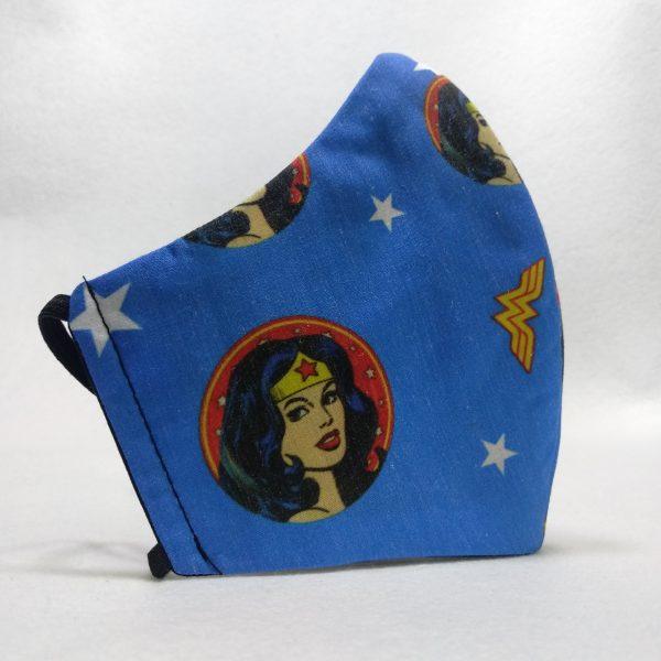 Cubrebocas Wonder Woman (Tallas S y L)