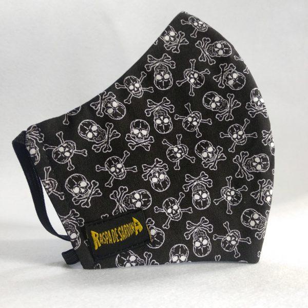 Cubrebocas Pirata Negra (Tallas S y L)