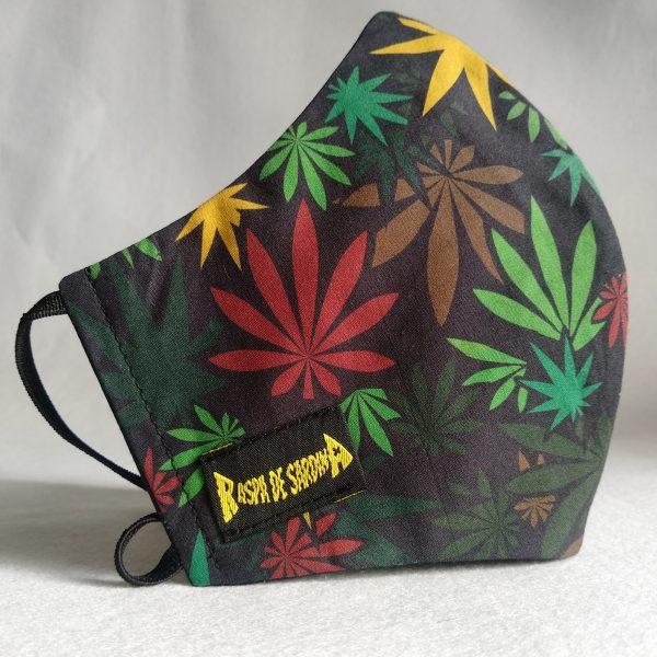Cubrebocas Marihuana (Tallas M y L)