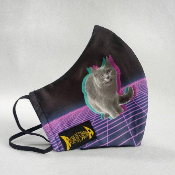 Cubrebocas Gato de Schrödinger (Tallas M y L)