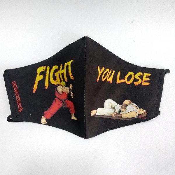 Cubrebocas Street Fighter (Tallas M y L)