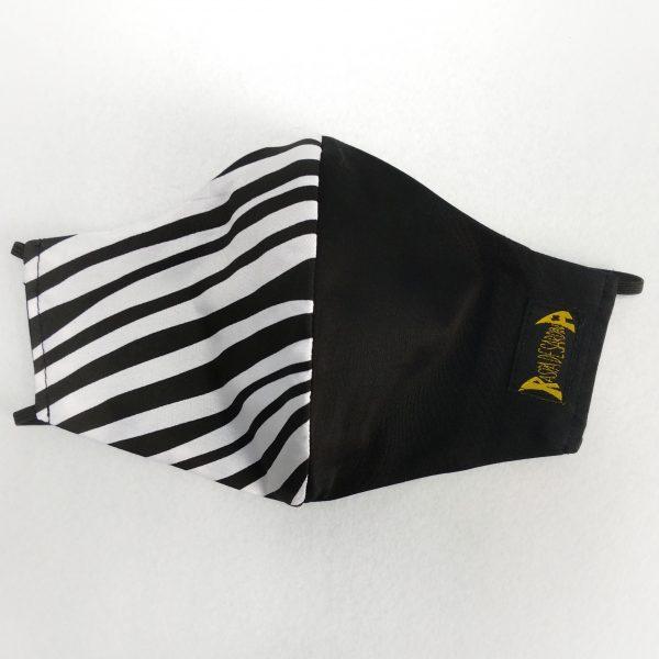 Cubrebocas 1/2 Cebra 1/2 Negro (Tallas M y L)